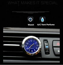 1Pcs Car Auto Quartz Clock Watch A/C Vent Clip Perfume Refill Storage Fragrance