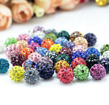 20/100PCS Czech Crystal Rhinestones Pave Clay Round Disco Ball Spacer Beads