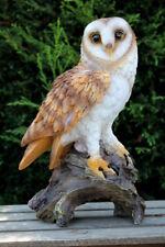Eule auf Stamm Uhu Kauz Vogel Tierfigur Nachtvogel Greifvogel Waldkauz