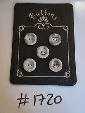 #1720 Lote de 5 Botones Gris Mármol como moteado