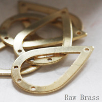 Pear CW-4281C 10 Pieces Raw Brass Tear Teardrop Frame 53x25x2mm