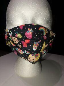 Handmade Nickelodeon Jojo Siwa Cartoon Style Double Layer Adult Cotton Face Mask