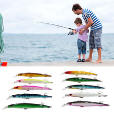 10-Pack Freshwater Laser Bait Surface Lure Bait Colorful Sea Fishing Lure Bait