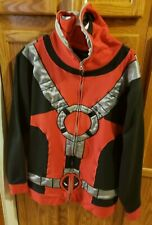 Marvel Deadpool Zip Up Hoodie  Jacket~ Adult size 2XL~RARE~ Full masked Top
