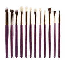 NEW 12 PCS WOOD MAKE UP BRUSHES KIT PROFESSIONAL COSMETIC MAKEUP BRUSH SET #A