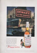 Pubblicità anni 50 DEWAR'S SCOTCH white label advertising whisky
