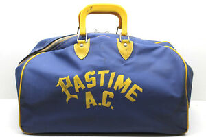 Vintage Pastime Athletic Club AC Syracuse NY Vintage Gym Bag Vinyl Zippered Nice