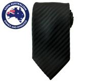 Men's Necktie Black Pinstriped 8.5CM Neck Tie Wedding Tie Black Tie Men Ties