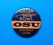 Rare Vintage Collectable Oklahoma State OSU 1985 Gator Bowl Pin Back Button