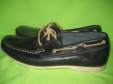Bertie Men's Shoes  Leather  Moccasin Dark Blue Size 8 / 42