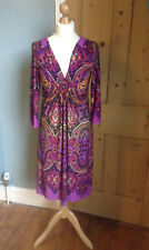 Lovely p;urple polyester dress by Wallis size S