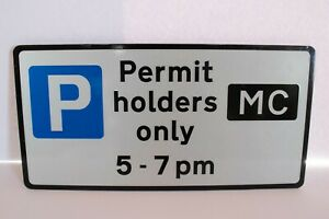 """PERMIT HOLDERS ONLY NEW OLD STOCK sign Aluminium 16"""" x 8"""""""