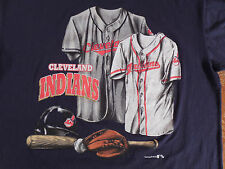 MLB Cleveland Indians Baseball CLASSIC NUTMEG MILLS T-Shirt Size L USA MADE New!