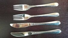 WMF Nürnberg Cromargan Besteck 2 Gabel Menügabel 19,5 cm und 2 Messer 21cm.