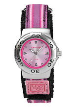KAHUNA GIRL'S OR WOMEN'S PINK DIAL NYLON STRAP WATCH - K1M-3027L