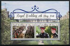 Penrhyn Cook Islands 2018 MNH Prince Harry & Meghan Royal Wedding 2v M/S Stamps