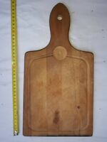 OLD PRIMITIVE WOODEN WOOD BREAD CUTTING BOARD PLATE