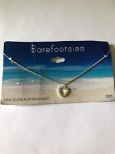Plated Anklet Barefootsies Fine Silver