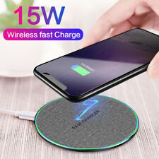 15W Wireless Charger Fast Charge Charging Mat For Samsung Galaxy S10 S9 S8 Plus