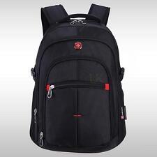 "Men Waterproof 15"" Laptop Notebook Bag Backpack Computer Travel School Rucksack"