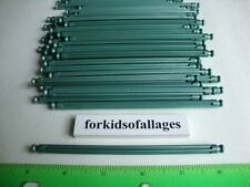 "50 KNEX METALLIC GREEN RODS 5 1/8"" Screamin Serpent Standard Parts/Pieces Lot"