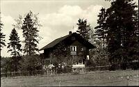 Schöneck im Vogtland DDR s/w AK 1967 Partie an der Jugendherberge Wiese Bäume