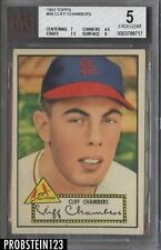 1952 Topps #68 Cliff Chambers St. Louis Cardinals BVG 5 w/ 8