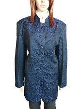VITTORIA VERANI Woman Vtg Navy Designer Formal Textured Blazer Jacket sz 18 AM63