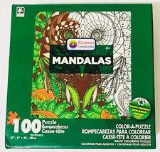 "Karmin Creations Mandalas 100 pcs Color-A-Puzzle  ""NEW"" FREE SHIPPING"
