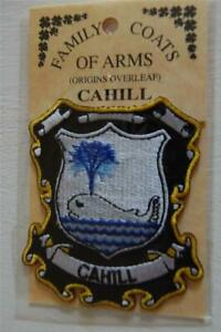 CAHILL Family PATCH Heraldic Coat of Arms - Crest - Embroidered - Badge