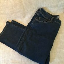 Levi Strauss Womens Blue Jeans Pants Size Misses 16 Short Mid Rise Straight