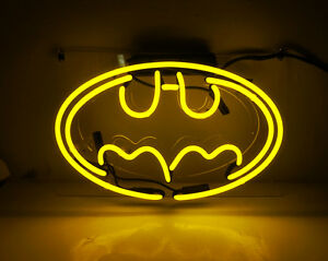 """Batman"" Custom Store Beer Decor Real Glass Night Light Neon Signs"