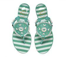 Jack Rogers Georgica Jellies Jelly Flip Flop Sandals Seafoam White size 8 NEW
