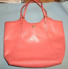 Coach large Leather Coral Tote Hand Bag*BW-A3-2
