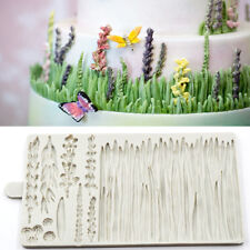 Grass Silicone Cake Mould Fondant Lavender Mold Plants Leaf Chocolate Baking Mat