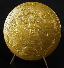 Médaille Héphaïstos Dieu feu Forge métallurgie Forgeron à Facciardi Monique 1981