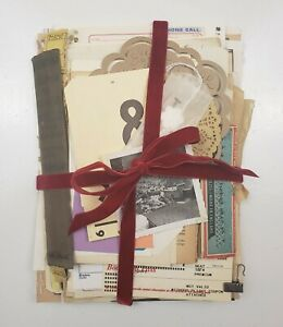 100+ Lot Old Unique Book Paper Ephemera Collage Junk Journal Altered Art #18-F