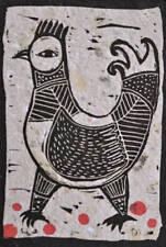 nabARus 090516-B1  Linogravure - Linocut - Outsider Art Singulier- 6/10 -9x13 cm