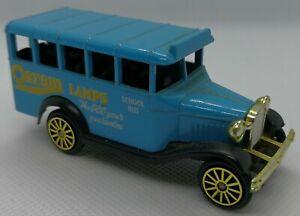 1:64 Corgi Bedford School Bus Truck LKW 1920s 1930s Osram Lamps