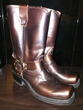 Road wolf men's Low Rider Copper Harness Boots 372-1 Size 8.5 W
