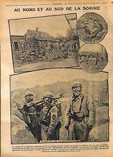 Bataille de la Somme Masque à Gaz Tranchées Poilus Mitrailleuse  WWI 1916