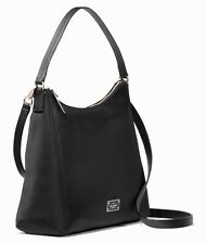 Kate Spade Justyne Blake Avenue Black Nylon Hobo Shoulder Bag Handbag $229 EUC