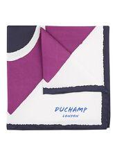 DUCHAMP LONDON Geometric Print Purple Pocket Square. RRP £65. BNWT.