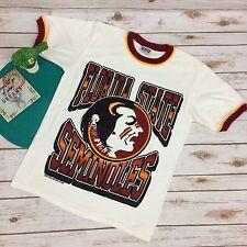 FSU Seminoles Ringer T Shirt Rah Rah Brand Florida State Sz M Uni Sex Indian Vtg