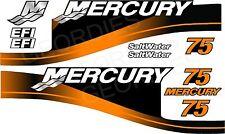 ARANCIONE MERCURIO 75 fuoribordo 4 tempi motore Adesivi Decalcomania KIT MOTORE