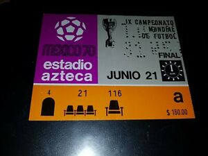 soccer FIFA WORLD CUP 1970 TICKET FINAL BRAZIL ITALY LAST PELE WC GOAL & GAME