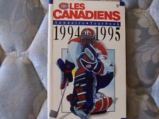 1994-95 MONTREAL CANADIENS MEDIA GUIDE YEARBOOK 1995 Press Book Program NHL AD