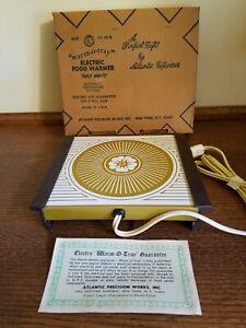 Vintage Warm O Tray Atlantic Precision Works Electric Food Warming Plate USA