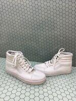 VANS Classic Sk8 Hi All White Canvas Lace Up Skate Shoes Men Size 6.5  Women's 8