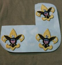 Boy Scouts Insignia Logo Patch Eagle & Shield BSA 1 1/2 X 1 1/2 INCH